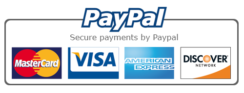 We accept paypal safe and secure payments